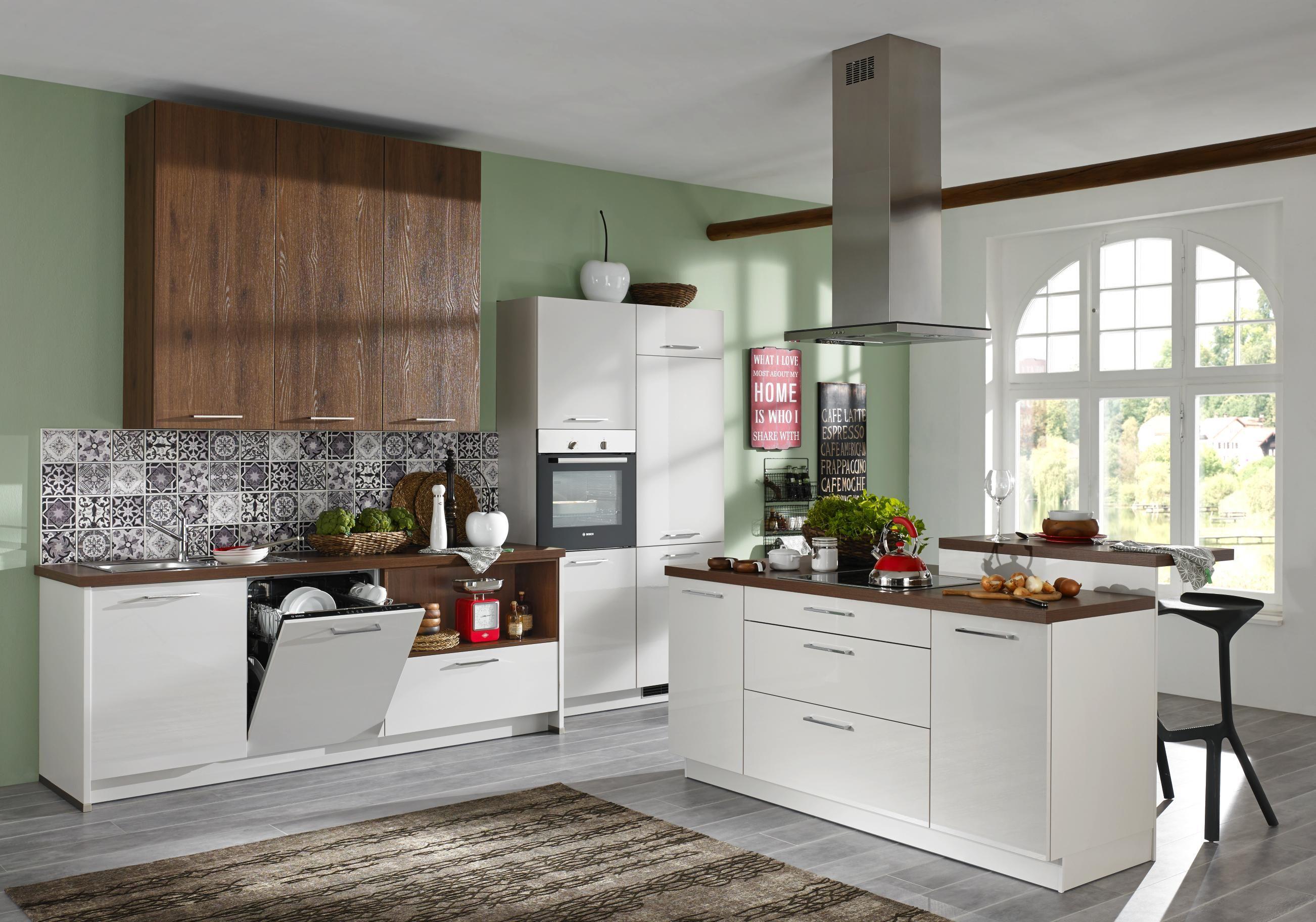 """Einbauküche """"Alnopearl"""" mit Hochglanzfront: ideal auf Sie ..."""