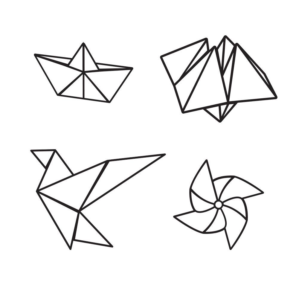 t e m tatouages ph m res miniatures origami ink origami origami templates et string art. Black Bedroom Furniture Sets. Home Design Ideas