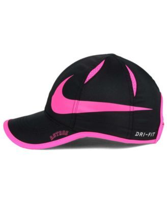 31e3050f5cbf4 Nike Women s Houston Astros Featherlight Adjustable Cap - Black Pink  Adjustable