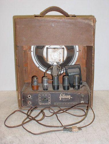 vintage gibson br 6 tube amplifier amp 1946 rare source code 285641 rola in 2019 amps. Black Bedroom Furniture Sets. Home Design Ideas