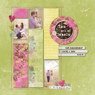 You Are My Reason Love Scrapbook Layout Idea from Creative Memories - ask me how!