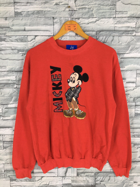 Mickey Mouse Sweatshirts Women Large Vintage 90 S Mickey Embroidery Pullover Cartoon Walt Disney Mi Sweatshirts Women Unique Sweatshirt Mickey Mouse Sweatshirt [ 3000 x 2250 Pixel ]