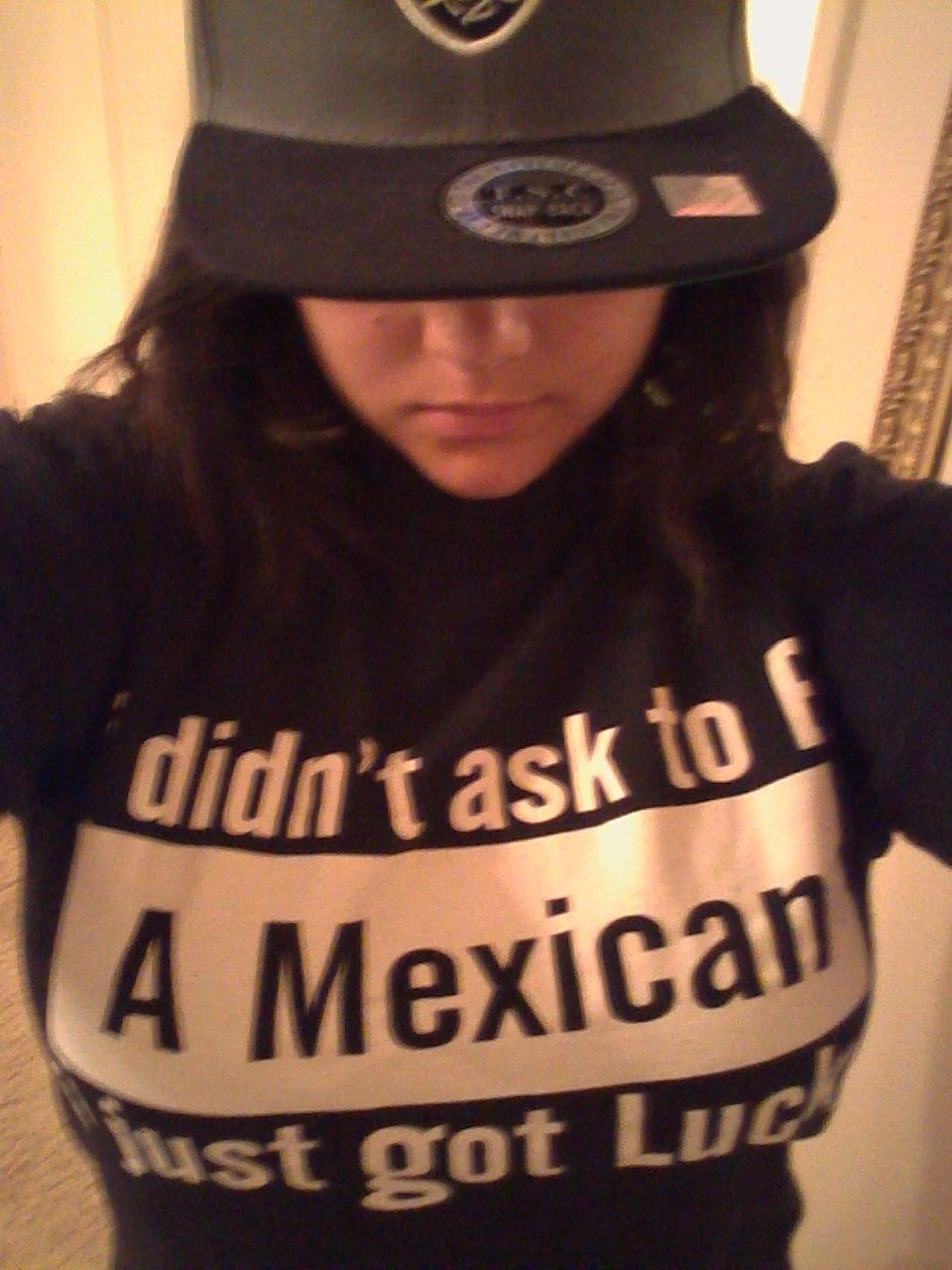 70a8217de6 just me in my mexican pride shirt XD it says