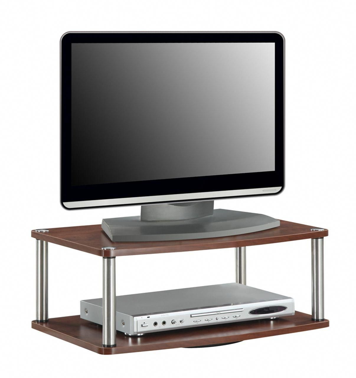 Convenience Concepts Two Tier Swivel Designs2go Tv Stands In Cherry