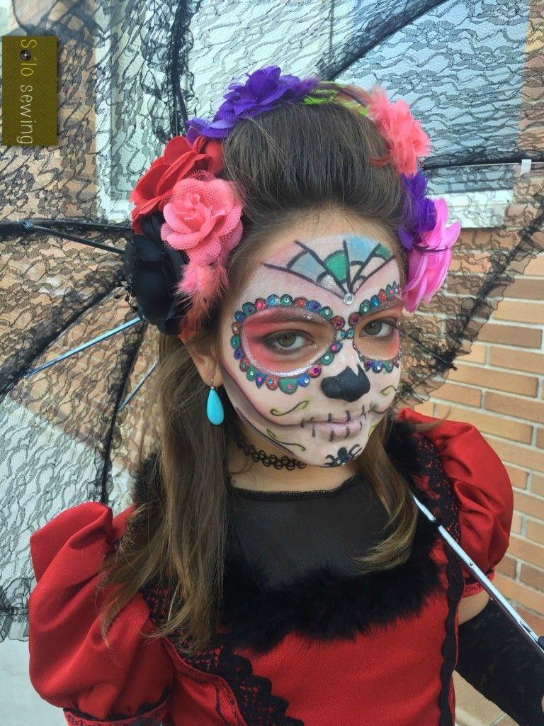 Disfraz de La Catrina, maquillaje casero Mis costuras