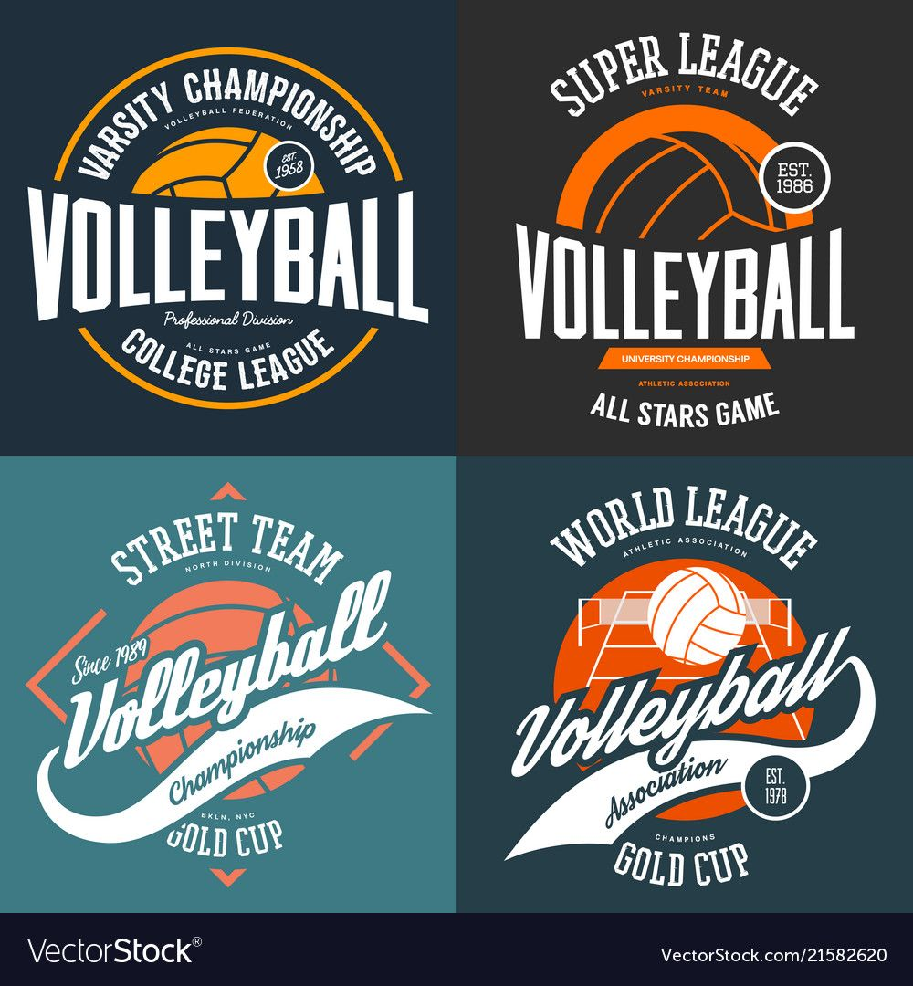 Sport T Shirt Prints For Volleyball Players Vector Image On Vectorstock Volleyball Shirt Designs Volleyball Team Shirts Volleyball Players