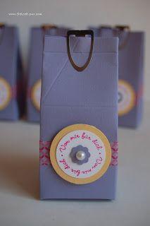 StampinUp! Gastgeschenke, Mini Milchkarton Washi Tape, Ein Gruß für alle Fälle