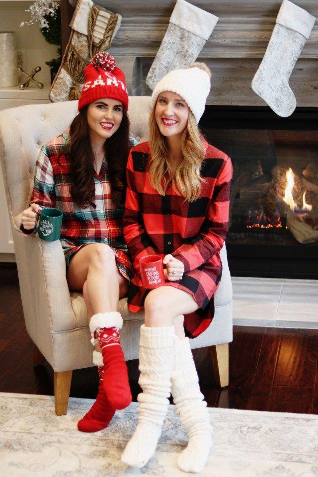 Pajama Christmas Party Ideas Part - 41: Blogger Christmas Pajama Party, Christmas Pajamas, Buffalo Plaid Pajamas