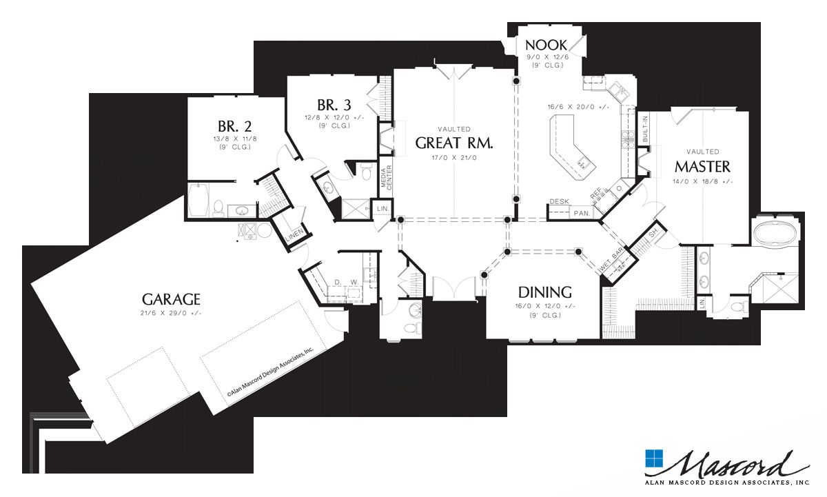 Modern Rear View House Plans In 2020 House Plans How To Plan Modern House Plan