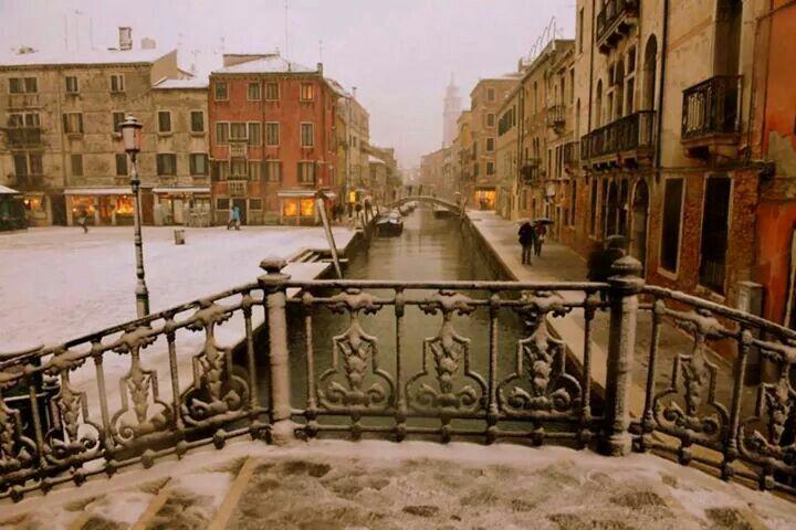 Today it's snowing in Venice | Venedig