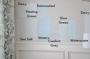 More Sherwin Williams Blue Gray Color Comparisons On Her Walls Sea Salt Mo Interior Paint Colors For Living Room Paint Colors For Home Sherwin Williams Blue