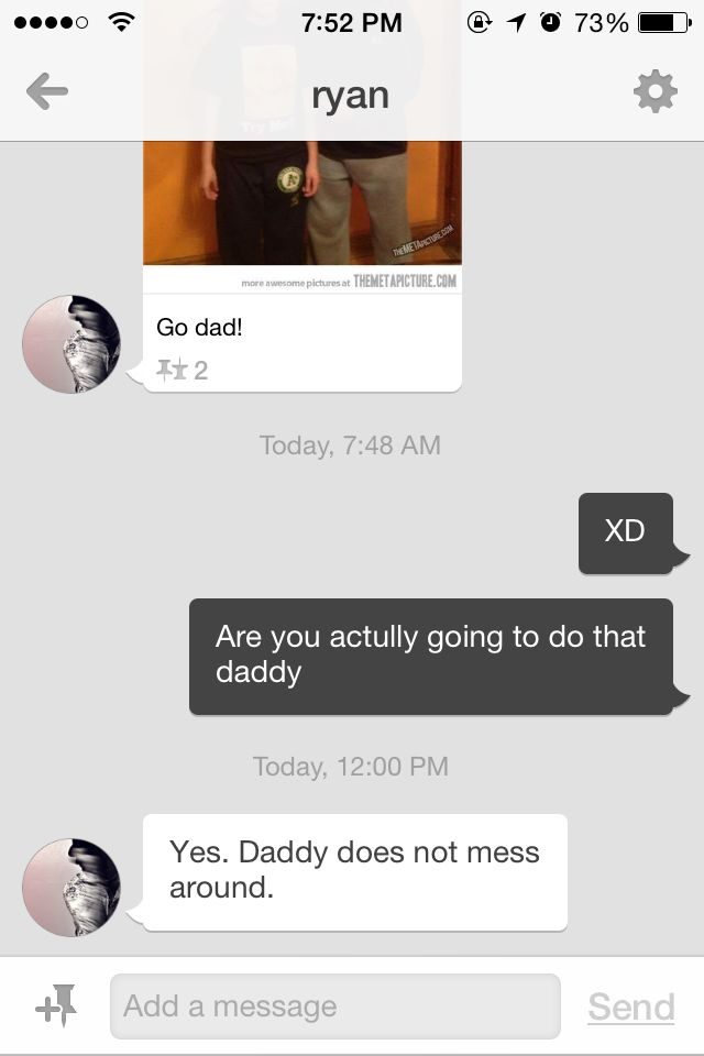 Me and my Daddy having a friendly chat XD