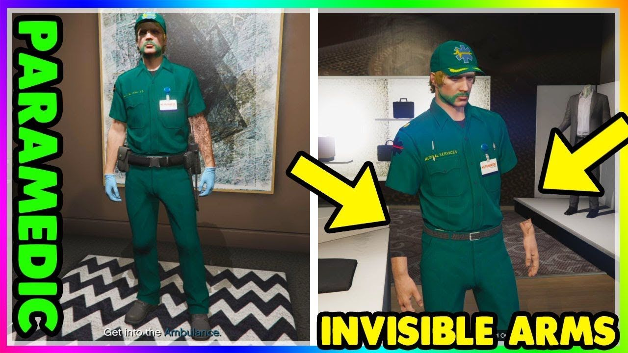 How To Obtain Invisible Arms Paramedic Outfit Gta Online Clothing