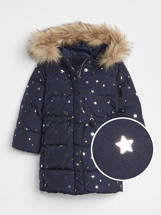 65c5016b3 Gap Baby Coldcontrol Max Long Puffer Jacket Navy Print | Products ...
