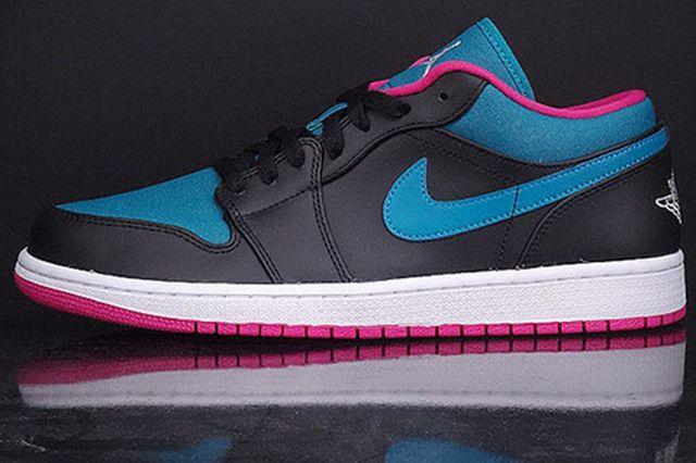 Air Jordan 1 Low Black Space Blue Fusion Pink Sneaker Freaker
