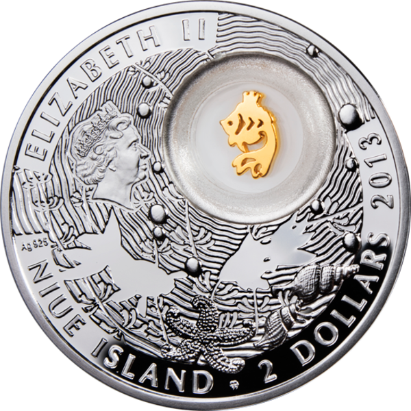 Niue 2013 2$ Elephant Lucky Coins III Proof Silver Coin
