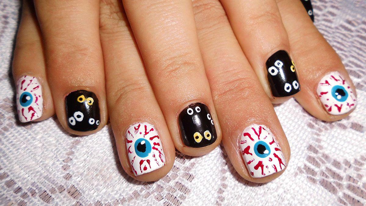 Halloween Nail Art Nails Pinterest Make Up