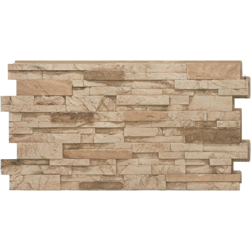 Wunderbar Stacked Stone #35 Desert Tan 24 In. X 48 In. Stone Veneer Panel