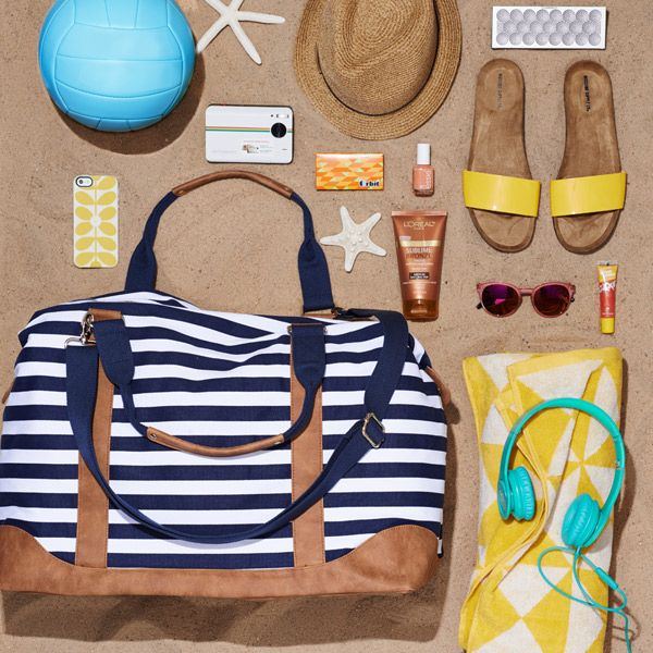 Party in a beach bag — perfect for toting around all your summer must-haves.