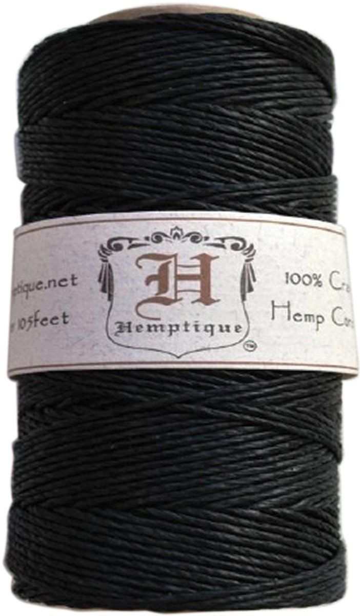 Amazon Com Hemptique 20 Hemp Cord Spool Black Beading Supplies Hemp Cord Beading Cord