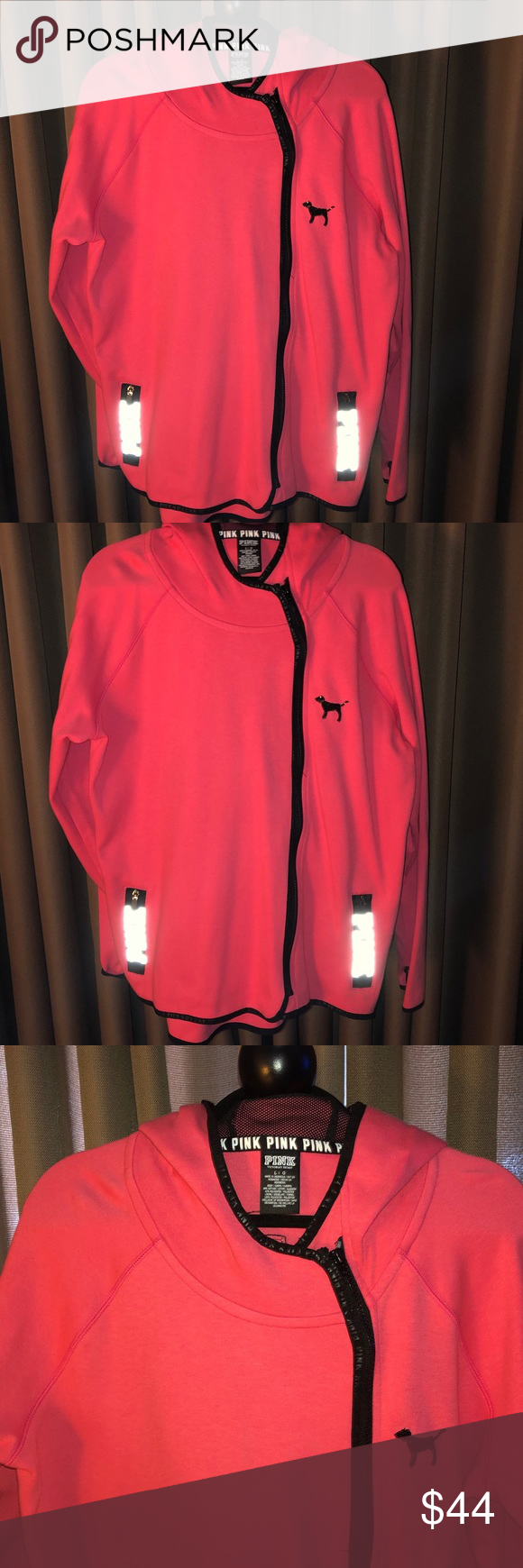 Pink By Victoria's Secret Charcoal Gray Sweatshirt Size Medium Warm And Windproof Clothing, Shoes & Accessories