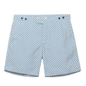 Bat tailored long swim shorts - Frescobol Carioca