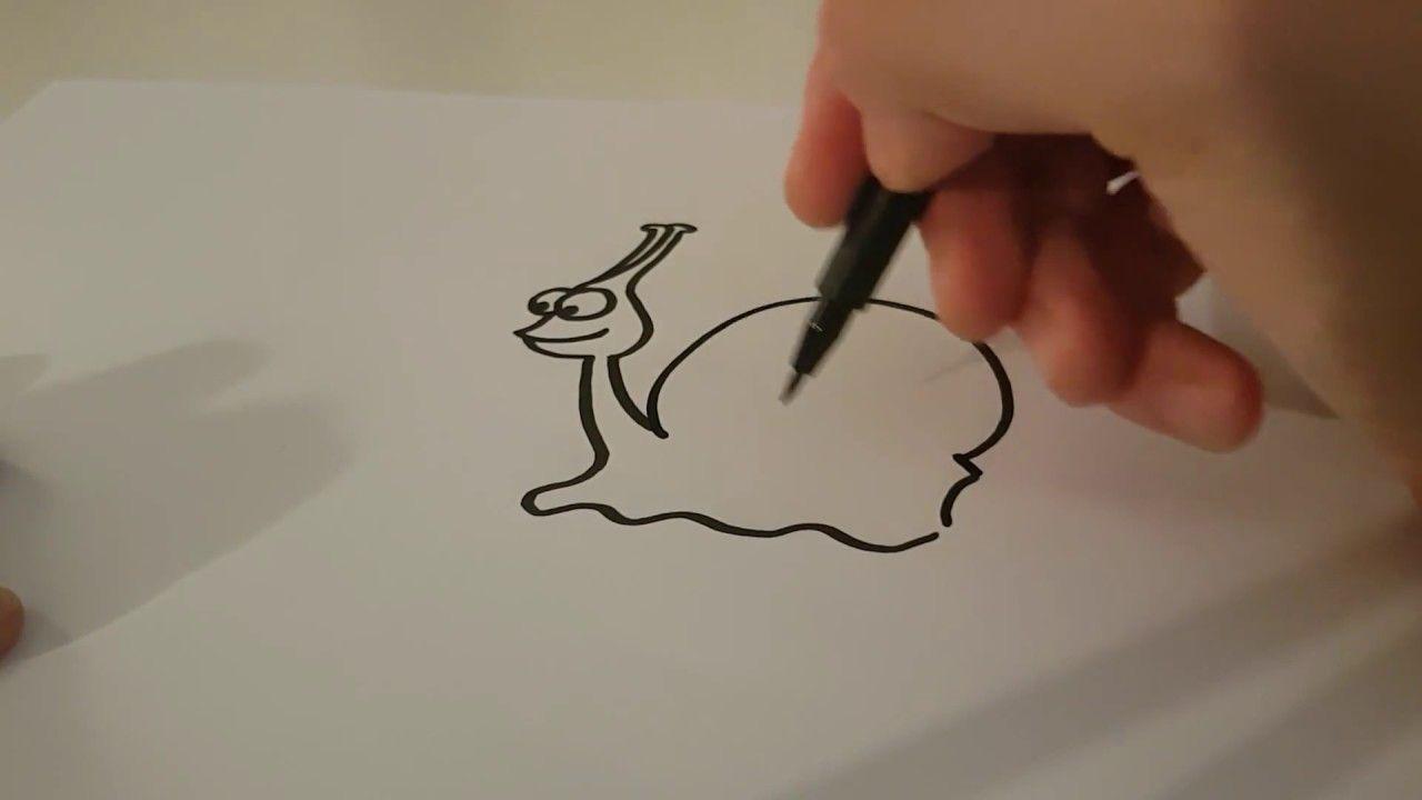 Schnecke zeichnen lernen