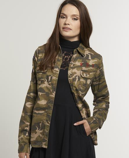 fb68b5e33e608 Superdry On Duty Military Shirt | Paint the Town Camo... in 2019 ...
