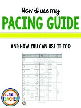 My life would not be complete without my yearly pacing guide. like to have plenty of time to gather materials, do some research, and talk to other teachers about my lesson before I teach it.I know...you can't plan for everything...but I need to have a general sense of what I am/should be doing.A pacing guide helps keep me focus and gives me motivation to try new things.I blogged all about how to use this pacing guide…