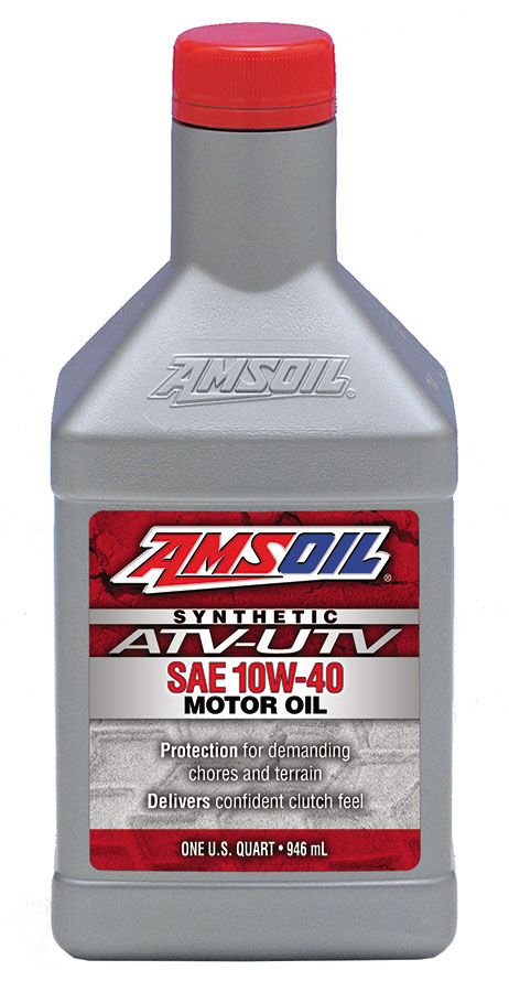 Amsoil 10w 40 Synthetic Atv Utv Motor Oil Recommended For Those