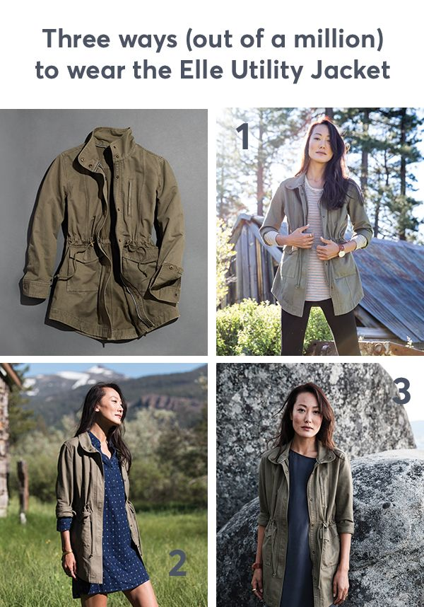 Elle Utility Jacket In 2019 Fashion Casual Fall Outfits