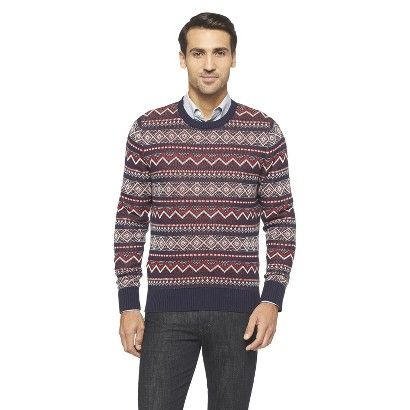 Merona Men's Fairisle Sweater (size S/M, Xavier Navy) $23.99 ...