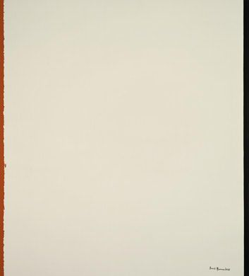 Barnett Newman, Be II, 1961/1964, coda to the Stations of the Cross series. Acrylic and oil on canvas, 204.5 x 183.5 cm (80 1/2 x 72 1/4 in.), National Gallery of Art, Washington, D.C.