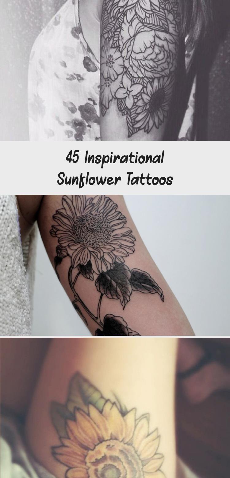 Photo of sunflower tattoo – 45 Inspirational Sunflower Tattoos #Tribalsunflowertattoos #s…