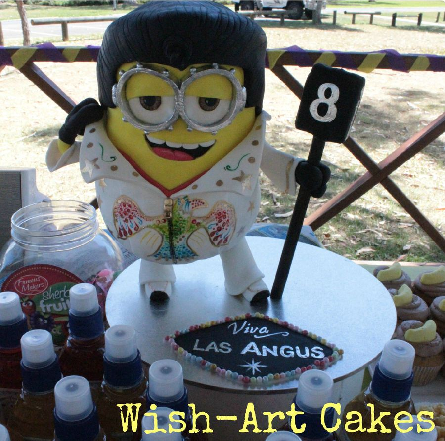 Elvis Minion Dave From Despicable Me Minion Minions Cake