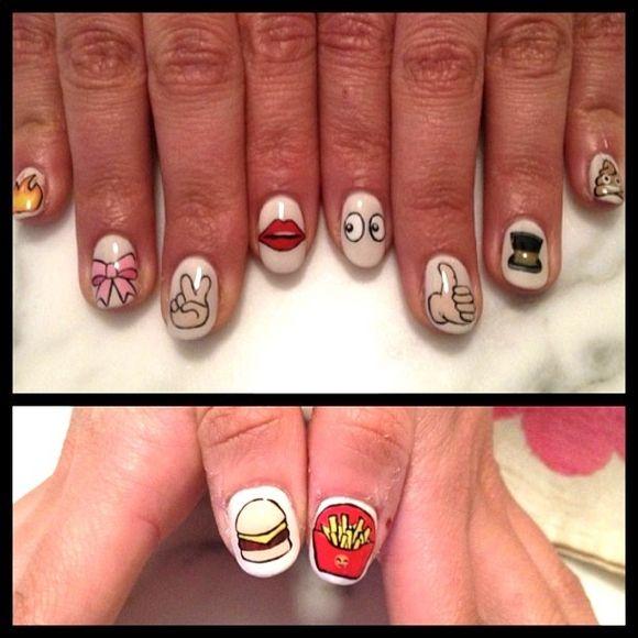 Emoji Nail Art Designs