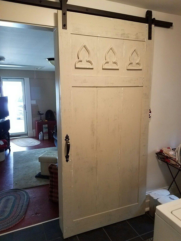 "Inside barn door. 40"" wide x 84"" tall. | Inside barn doors ..."
