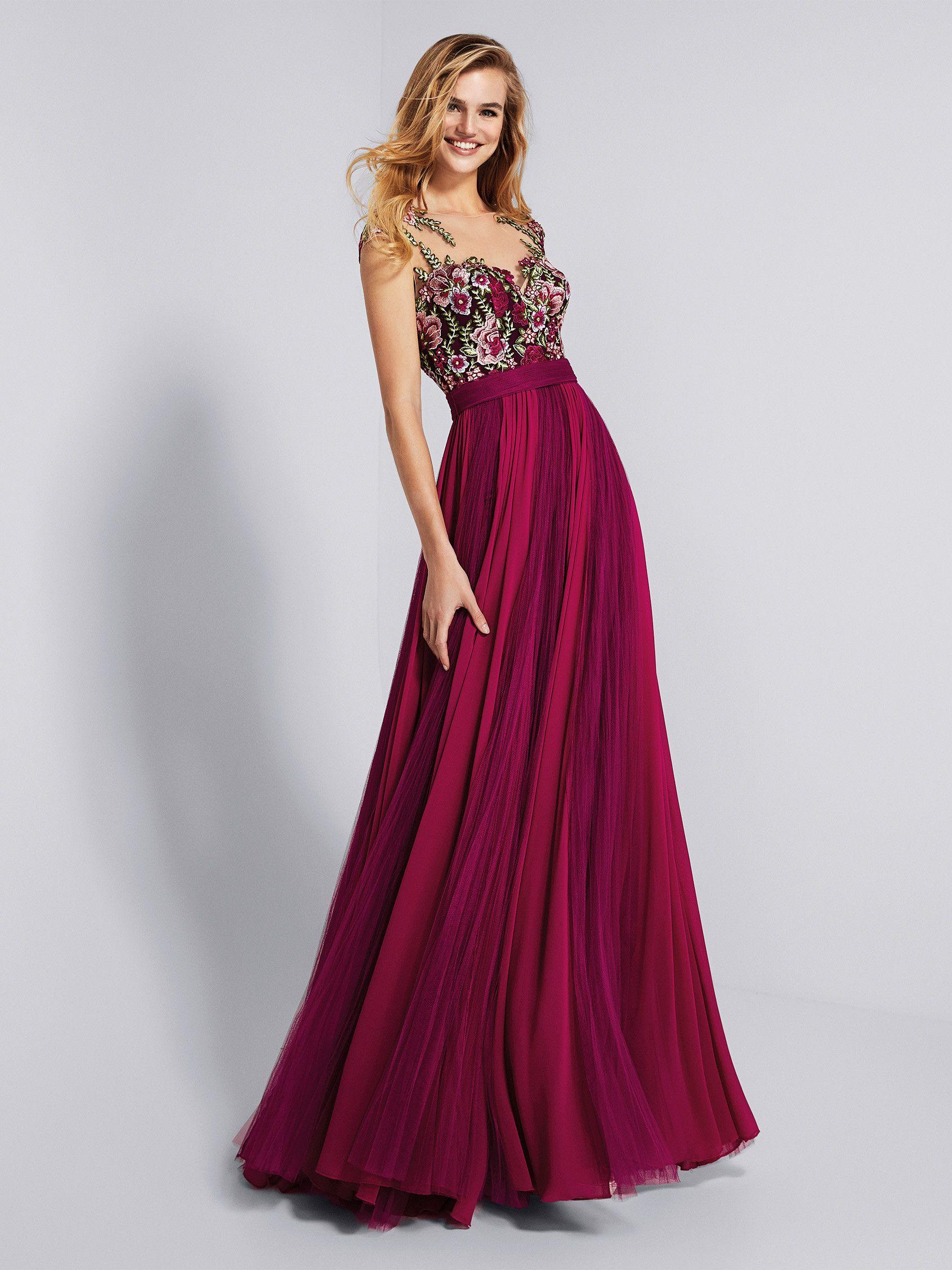 Robe soiree de couleur