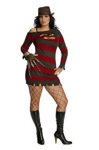 Secret Wishes Nightmare On Elm Street Miss Krueger Costume, Brown