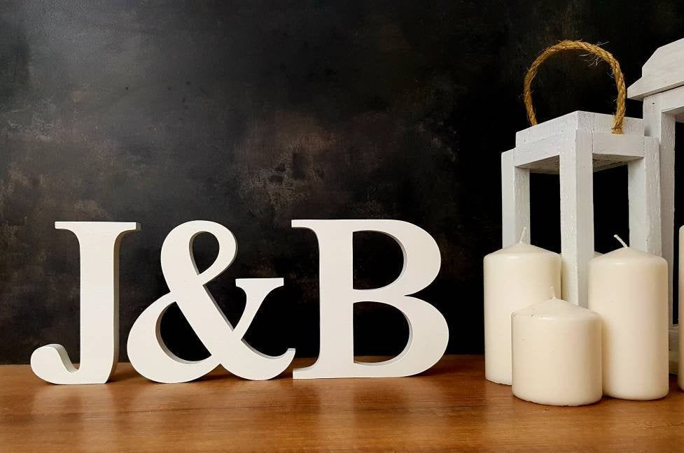 large free standing wooden letters wood letter sweetheart table decor wedding bridal shower party centerpiece 3d alphabet monogram gold A
