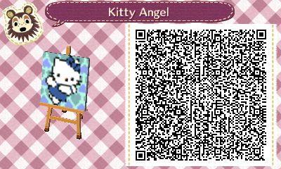 Hello Kitty Angel Animal Crossing New Leaf Qr Code Animal