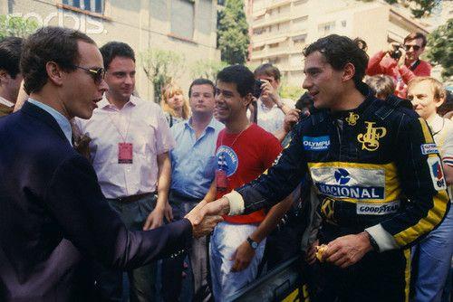 Ayrton Senna e Príncipe Albert de Mônaco