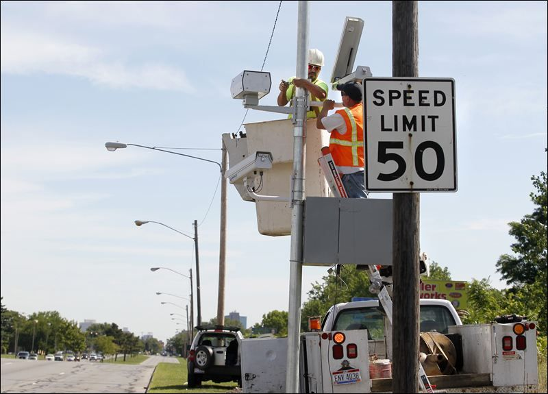 Speed-only traffic cameras installed on major South Toledo