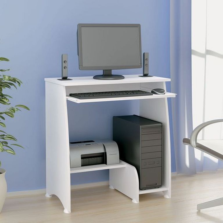20 Best Modern Computer Desk Designs In White Color Computer Desk Design Computer Table Design Small Computer Desk
