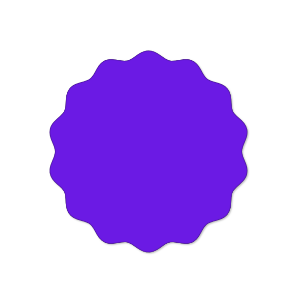 Wavy or zig zag circle | SVG | Circle template, Shape templates, Zig zag