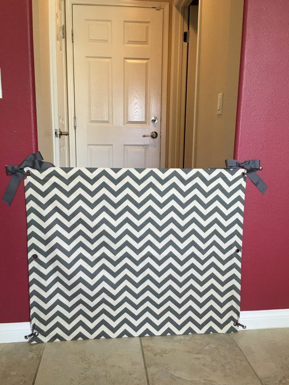Custom Fabric Baby Or Pet Gate Baby Pinterest Fabric Baby