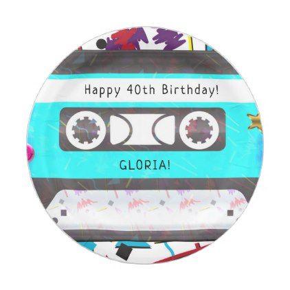 Cassette tape retro 80s 90s theme birthday party paper plate cassette tape retro 80s 90s theme birthday party paper plate birthday gifts party celebration custom negle Choice Image