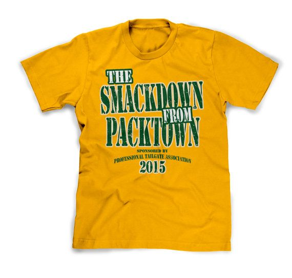 SMACKDOWN from PACKTOWN tee. Support the Green Bay Packers in style! by  PurebredCheesehead 8da85840e