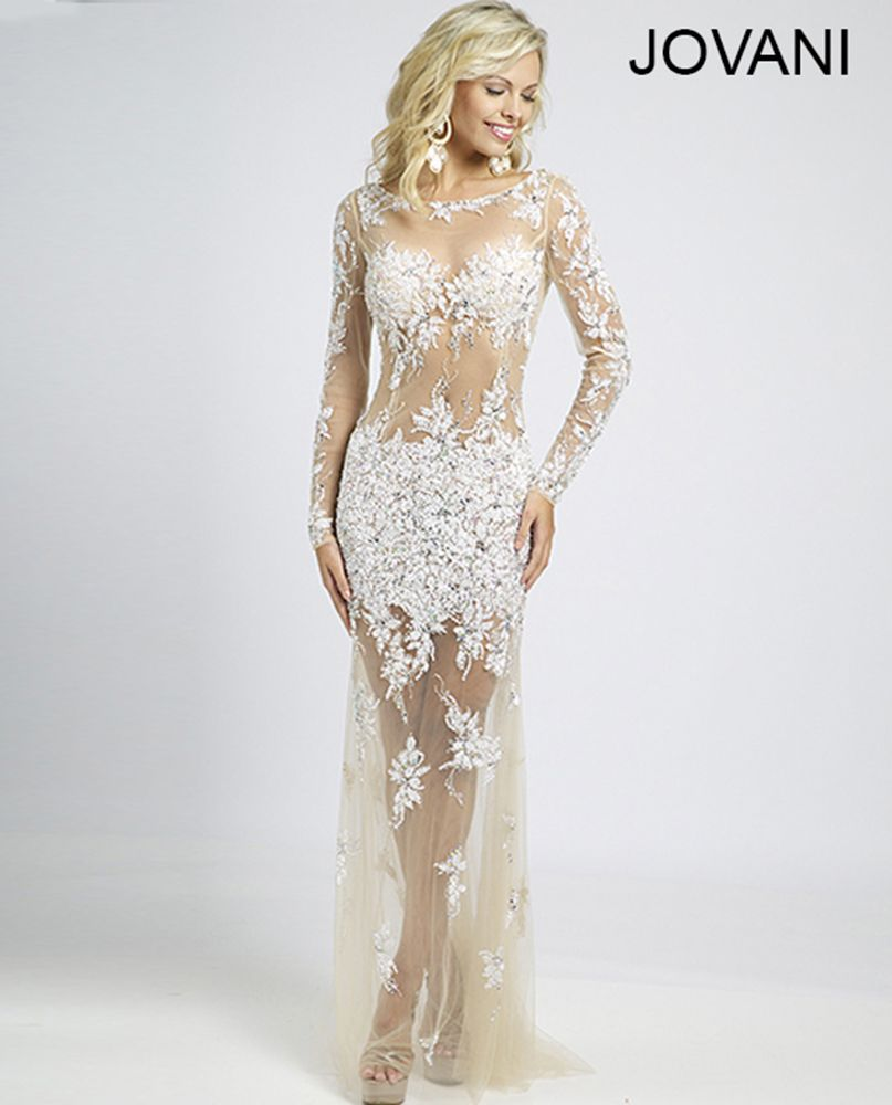 Style 89256 http://www.jovani.com/prom-dresses/sheer-beaded-lace ...