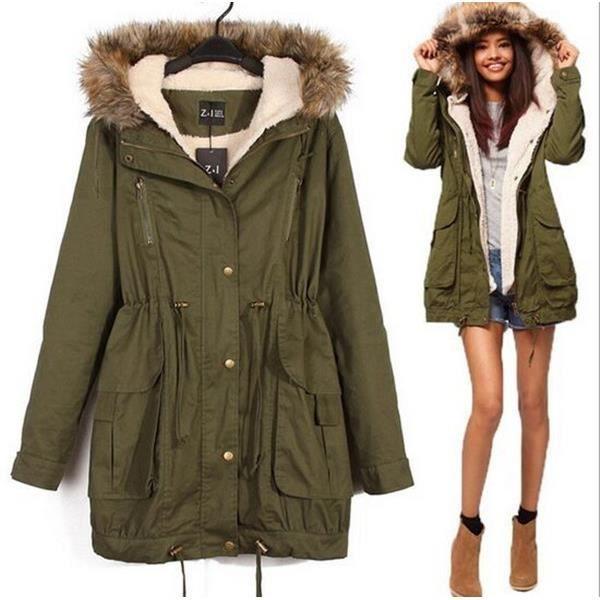 Manteau capuche femme original